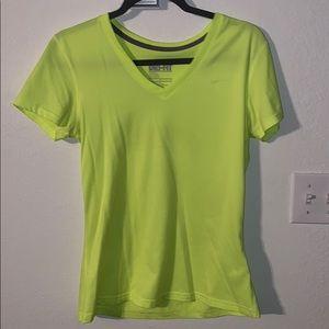 Neon Yellow Nike V Neck